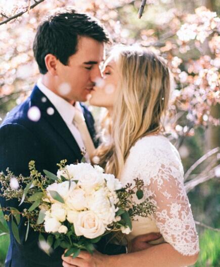 浪漫的樱花婚纱照