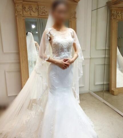 被自己美哭的鱼尾婚纱