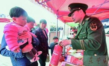 黄石市消防支队宣传消防产品打假知识