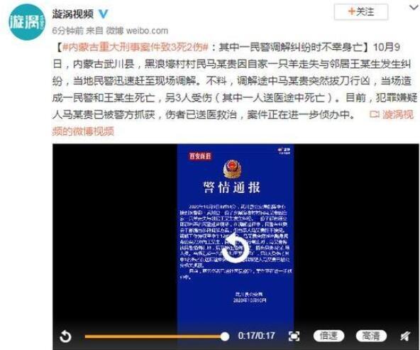 内蒙古重大刑事案件致3死2伤